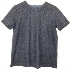'S Max Mara Women's Wool Short Sleeve Shirt Large
